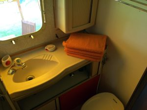 belrepayre retro trailer park airstream sovereign starship bathroom
