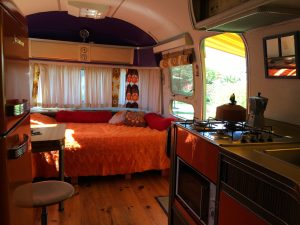 retro campsite france ariege occitanie starship living room